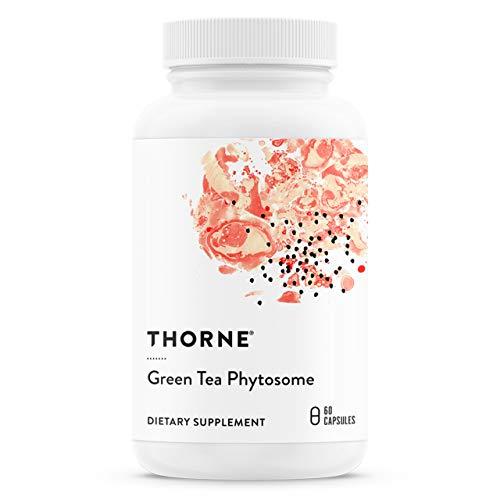 Thorne Research - Fitosoma del té verde - Antioxidante, protector del hígado y beneficios metabólicos del té verde sin cafeína - 60 Cápsulas
