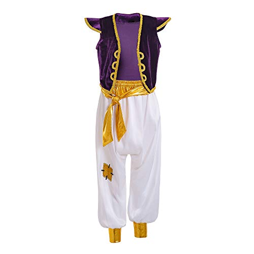 Mooler Arabian Prince Costume Street Rat Suits for Boys Cosplay Fancy Dress up Outfit