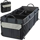Washable Car Trunk Organizer with 16 Pockets - 4 COMPARTMENTS Car Truck Cargo