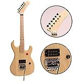 ZUWEI DIY Electric Guitar Kits 5150 - Alder Body, Humbuckers Pickups, Maple Neck, Banana Headstock, Floydrose Bridge, 22F with 3.4 Feet Cable