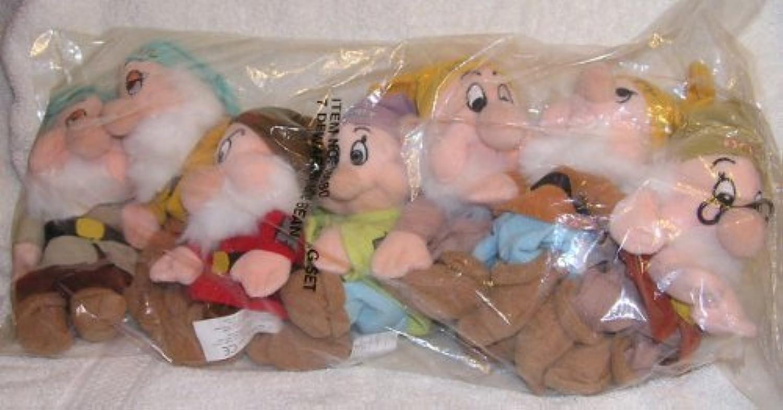 Disney Snow Weiß 7 Dwarfs 8  Plush Mini Bean Bag Dolls - Sold as Set From Disney Catalog by Disney