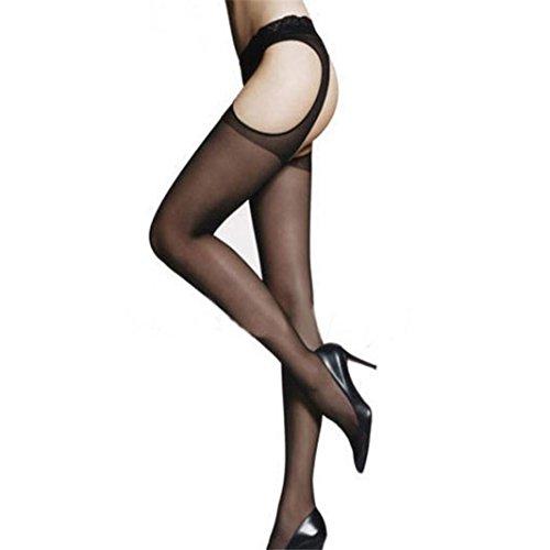 style_dress overknee strümpfe Damen Socken Stützstrümpfe Frauen elastische Kniestrümpfe Spitze Oberschenkel Strumpf Strumpfhosen Strapsstrümpfe (Schwarz)