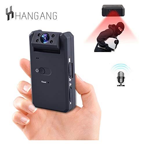 Hangang Mini videocamera, videocamera portatile con camcorder videocamere portatili HD 1080P con visione notturna, HD Mini Camera