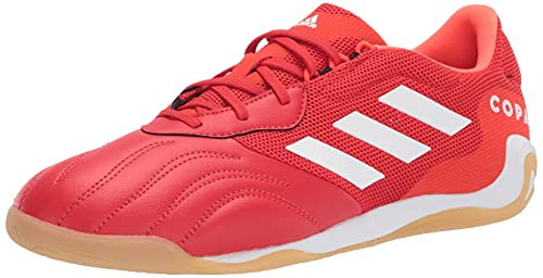 adidas Men's Copa Sense.3 in Sala Soccer Shoe, Red/White/Solar Red, 9.5