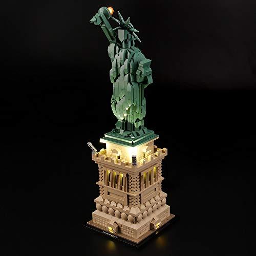LODIY Kit de LED Lumineux pour Lego 21042 Architecture Statue de la Liberté - Jeu De Lumiere Light Kit Compatible avec Lego 21042 (Lego Modèle Non Incluse)