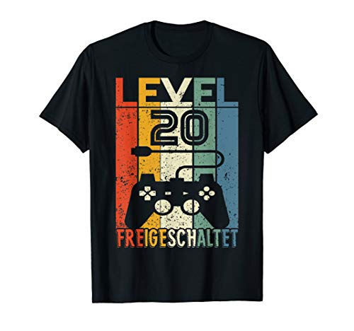 20 Geburtstag Geschenk - Level 20 unlocked Shirt Video Gamer