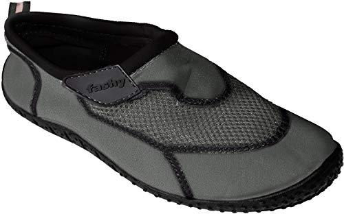 7596 Fashy Outdoor Aquaschuh Arucas mit Klettverschluss, Farbe grau, Größe 44