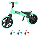 Yvolution Y Velo Vélo enfant enfant   Vélo d'équilibre sans pédale   À partir de 18 mois à 4 ans   Y Velo Flippa 4-en-1 Vélo d'équilibre   2-5 ans, Vert, YVELO JUNIOR GREEN