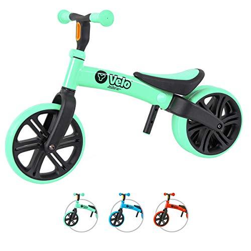 YVOLUTION Yvelo Y Velo Junior Balance Bike Lernlaufrad Kinderlaufrad - grün- Alter 18 Monaten bis 4 Jahren