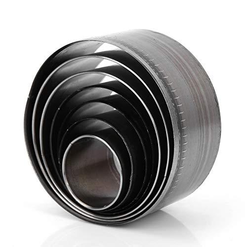 Mxtech Perforadora, Perforadora, Perforadora portátil incisiva de Correa Circular, 7 Piezas Conveniente para Cuero para troqueladora