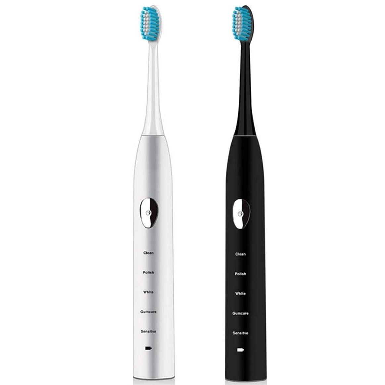 もう一度意図的成果電動歯ブラシ、充電ソニック電動歯ブラシ、家庭用ホワイトニング防水自動歯ブラシ、誘導充電、スマートタイマー(カラー:ホワイト)