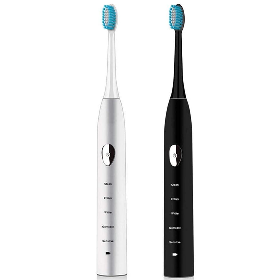 カーフグリップ槍電動歯ブラシ、充電ソニック電動歯ブラシ、家庭用ホワイトニング防水自動歯ブラシ、誘導充電、スマートタイマー(カラー:ホワイト)