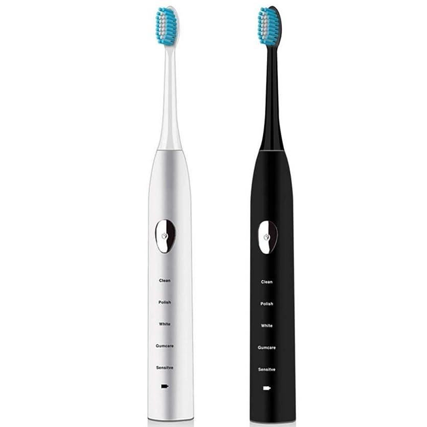 塩どこでも手当電動歯ブラシ、充電ソニック電動歯ブラシ、家庭用ホワイトニング防水自動歯ブラシ、誘導充電、スマートタイマー(カラー:ホワイト)