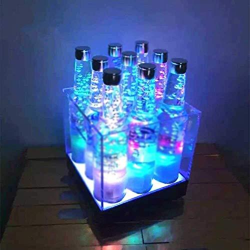 LED di ricarica della lampada Portaghiaccio, riutilizzabile Ice Cube bagagli benna durevole Grande Ice Buckets Perfetto for bar, club, casa, hotel, piccole riunioni, barbecue, pic-nic, cucina 9.24