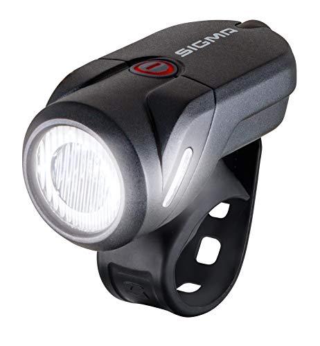 SIGMA SPORT - Aura 35 | LED Fahrradlicht 35 Lux | StVZO zugelassenes, akkubetriebenes Vorderlicht