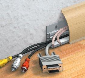 Kabelkanal Sockelleiste/Fußbodenleiste in 6 Dekoren [Buche, 10m]
