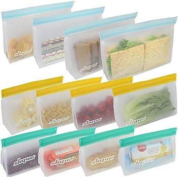 12-Pack Skque Reusable Standard Storage Bag
