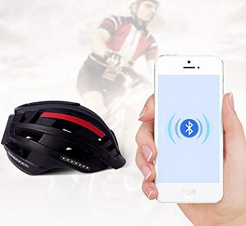 FENGE Casco Música, Intermitente, Sistema de navegación, función de Llamada Bicicleta, Tecnología...