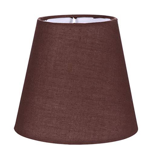 Uonlytech Pequeña pantalla de tela de barril, pantalla de tela, lámpara de mesa, pantalla de lámpara de repuesto para la casa, 1 unidad de café