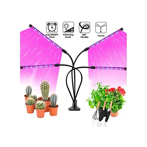 Clip USB Multifunción De Cuatro Cabezales Luz De Crecimiento De Plantas Planta De Interior De 80 LED Luz De Planta LED De Espectro Completo 4 Luz De Planta Con Temporizador US