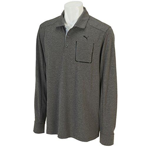 Puma Golf Lux Blend LS Polo Shirt Men Dry Cell Tech Longsleeve, Farben:Gris;Größe Bekleidung:S