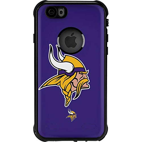 Skinit Waterproof Phone Case Compatible with iPhone 6/6s - Officially Licensed NFL Minnesota Vikings Retro Logo Design