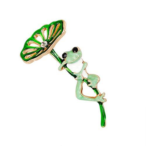 N / A Nigoz - Broche de solapa esmaltado, diseño de rana, para fiestas, San Valentín, regalo de joyería de calidad adorable, práctico y rentable
