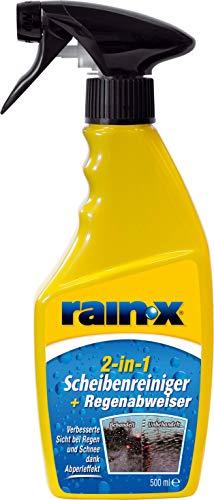 Rain-X 831135 2-in-1 Scheibenreiniger + Regenabweiser 500ml, Gelb