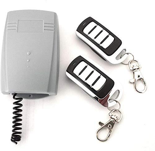 Radio Receptor Universal 433,92Mhz con 2 mandos a Distancia Rolling Code para Puertas de Garaje automáticas o Control Remoto.