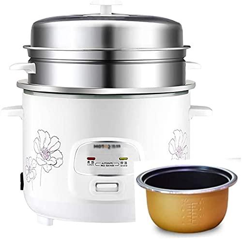 Fornello di riso e piroscafo, fornello di riso antiaderente domestico, funzione calda, (4/5 / 6L), per 2-9 persone (dimensioni: 5L)