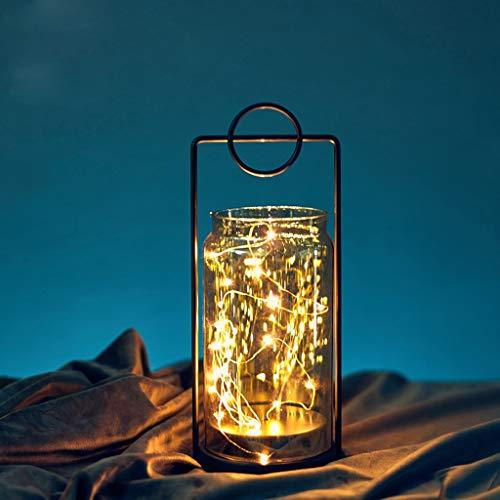 Kerstlantaarn met LED – tafeldecoratie voor vakantie, werkt op batterijen, lantaarn, voor buiten, decoratieve kaars zonder batterij