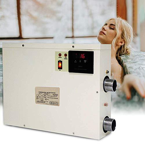 S SMAUTOP Pool Thermostat 220V Heizung Schwimmbad Wasserkocher 11KW Warm Wasser Thermostat Heizungspumpe, die Temperatur Hält für SPA Bade Wannen Temperaturregler