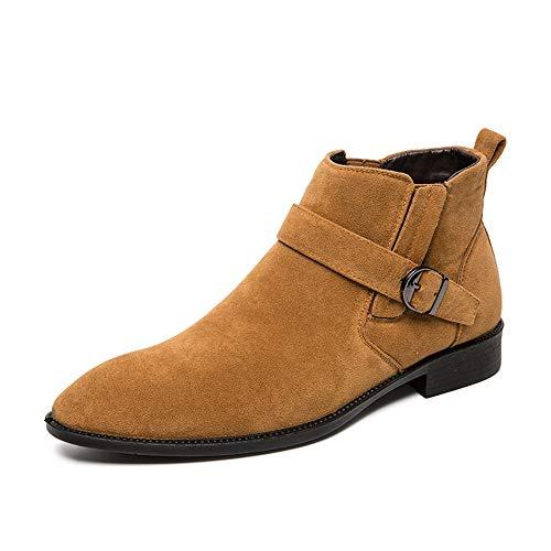 CAIFENG Herrenmode Ankle Boot beiläufigen Convenient Super Light Winterfaux-Fleece Innen High Top Boot (Konventionelle...