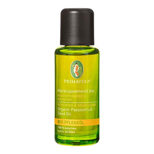 PRIMAVERA Pflegeöl Maracujasamenöl bio 30ml - Naturkosmetik, Pflanzenöl, Hautöl - schützend bei trockener, entzündeter Haut - vegan