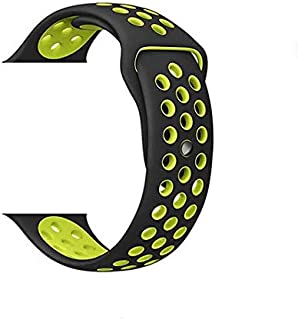 Breathable with holes sport silicone watch Band for apple watch 42mm Bracelet Strap