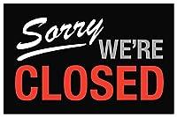 Hypothesis Sorry We are Closed申し訳ありませんが、もう閉店致しました 壁の装飾用の30x40cmティンサインポスター ブリキ看板