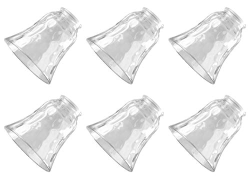 Ciata Lighting Traditional Bell Glass Shade Replacement Shade for Fan/Wall fixtures Shade Pack of 6 (Clear) -  8127700