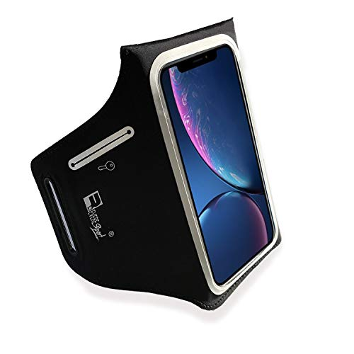 RevereSport Sportarmband für iPhone XR. Armband Telefon Handyhalter Case für Laufen, Workout, Joggen und Fitness