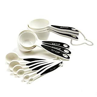 Norpro 3042 Grip-EZ Measuring Cups & Spoons, Set of 12, White/Black (B0000VLY0O) | Amazon price tracker / tracking, Amazon price history charts, Amazon price watches, Amazon price drop alerts