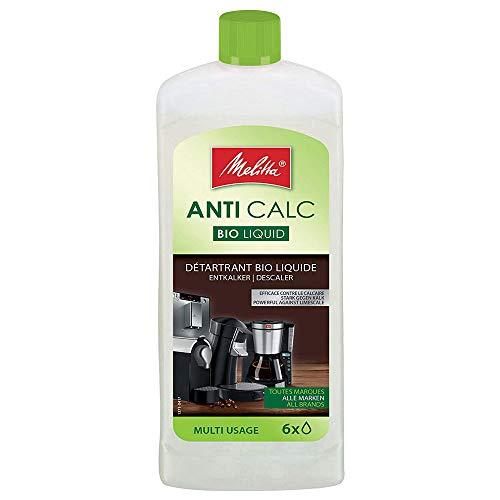 Melitta Descalcificador Bio Multi, Limpiador Express, Automaticas, Cafeteras de Goteo, Liquido Biodegradable, 6 Usos, 250 mililitros, 0.25 litros