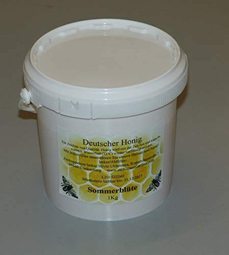 Bienenhonig aus eigner Imkerei, Sommertracht im 1kg Eimer