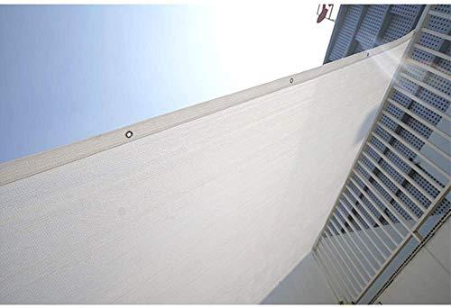 Toldo Vela Sun Mesh Shade Panel 80% Shade Cloth Sunblock UV con Ojales for Patio/Pergola/Blanca del pabellón (Tamaño: 2 m x 4 m) Tamaño: 4m x 4m (Size : 3m x 5m)