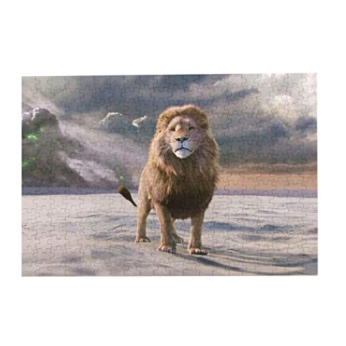 Lion Movie The Chronicles Of Narnia The Lion The Witch And The Wardrobe Puzzle Jigsaw Puzzles Colorful 300 Piece Puzzle Game Indoor Activity Family Game Toy Gifts for Adults Kids