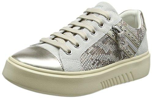 Geox Damen D NHENBUS F Sneaker, Elfenbein (Off White), 38 EU