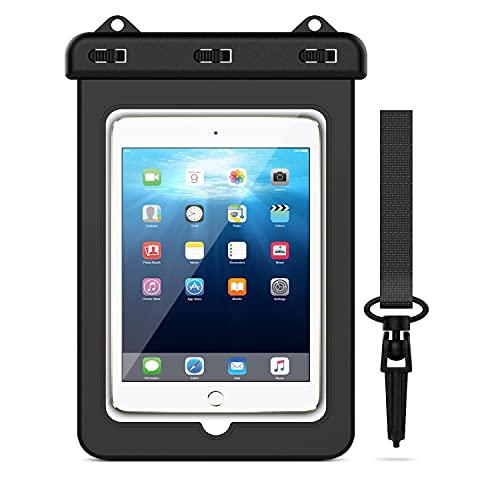 """VHOPMORE Universal 8 inch iPad Waterproof Case, Tablet Dry Bag Pouch Water Resistant Protective Case for iPad Mini 1 / 2 / 3 / 4, Galaxy Tab A / S2 8.0"""", ASUS ZenPad, Tablets up to 8 Inch with Lanyard"""