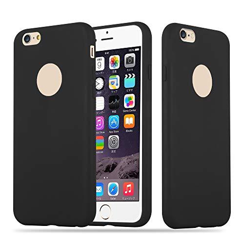 Cadorabo Custodia per Apple iPhone 6 / iPhone 6S in Candy Nero - Morbida Cover Protettiva Sottile di Silicone TPU con Bordo Protezione - Ultra Slim Case Antiurto Gel Back Bumper Guscio