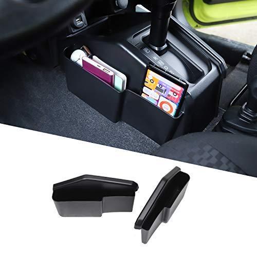 ANTC スズキジムニー JB64 JB74専用 ギアシフト収納ボックス 携帯 キー ティッシュ収納袋 取り付け簡単 多機能 耐摩