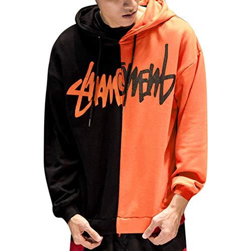 Heren Jongens Lichtgewicht Hip-hop Hoody Sweatshirt, Jiayit Unisex Streetwear Casual Kleding Mode Kleur Blok Hoodie Sweatshirt Jas Pullover