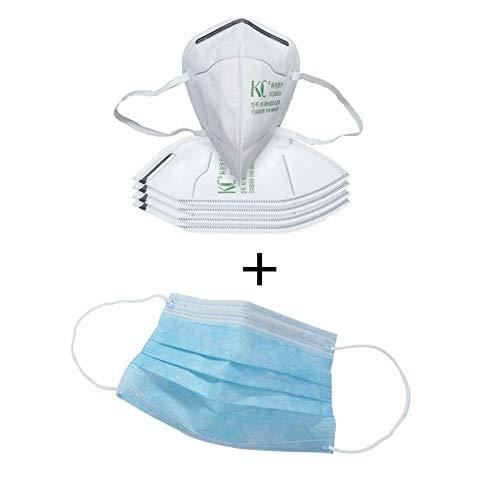 Sweetlover Mascarilla FFP2 Máscara,FFP2 filtrando 95% partículas, máscaras Antipolvo Transpirable KN95, mascarillas con elásticos para Las Orejas, certificación CE