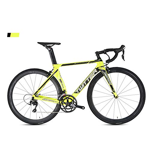 BIKERISK Bicicleta Bicicleta de Carretera de Fibra de Carbono 16-Speed Road Racing Bend Handle sniper2.0 Hombres y Mujeres Ciclismo,4,48cm